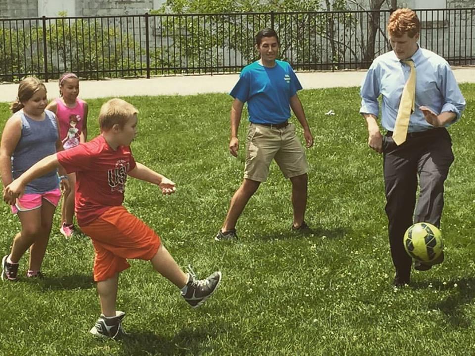 Cobi Frongillo Plays Soccer with Joe Kennedy